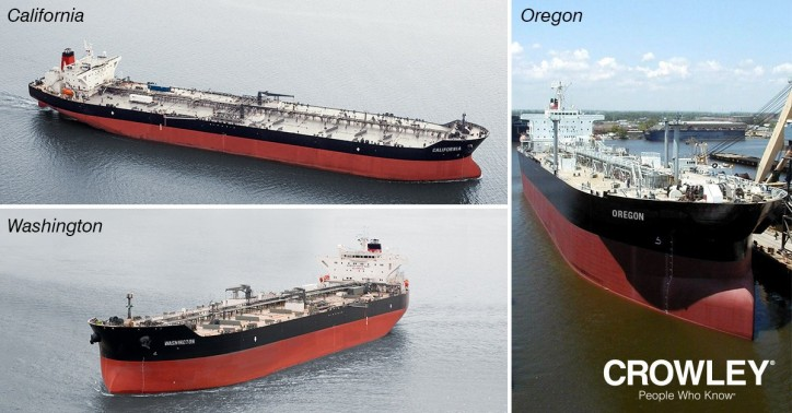 Crowley Completes Acquisition of Three SeaRiver Tankers
