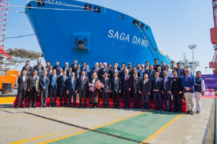 Saga LNG Shipping names its new mid-size carrier - Saga Dawn