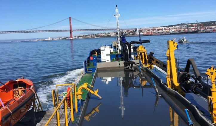 Newly-built TSHD doing the Portuguese proud