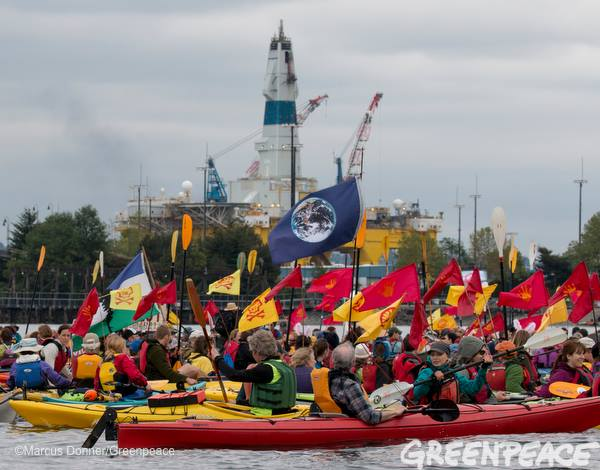 Protests against Shell oil-rigs at Port of Seattle