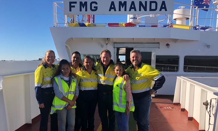 Fortescue's seventh ore carrier arrives in Port Hedland