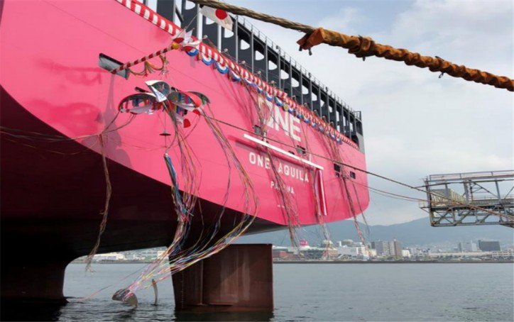 Ocean Network Express announces delivery of 14,000-TEU containership ONE AQUILA