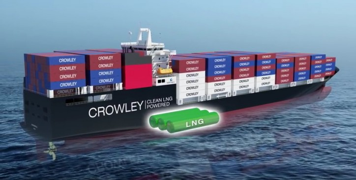Crowley's first LNG-powered ConRo ship on schedule