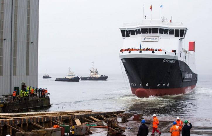 MV Glen Sannox - UK's first LNG passenger ferry launched on the Clyde (Video)