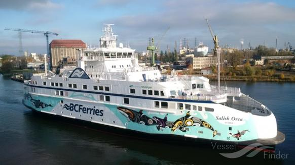 BC Ferries' First LNG Ship Salish Orca Arrives in British Columbia