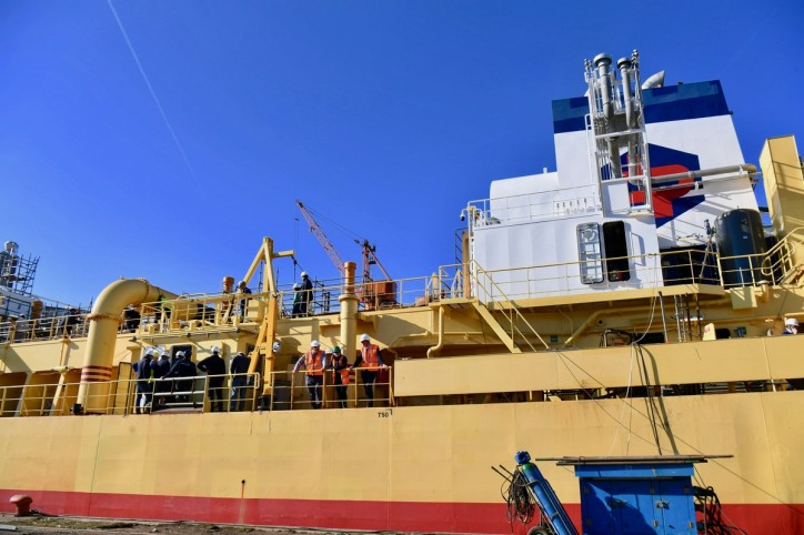 Europe's first LNG dual-fuel conversion dredger is launched at Damen Shiprepair Dunkerque