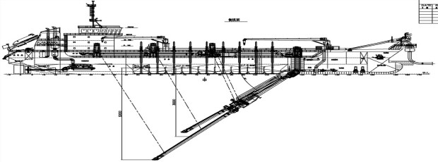Technical drawing of the new TSHD vessel