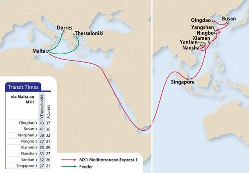 APL's Mediterranean Express 1 (MX1) Service