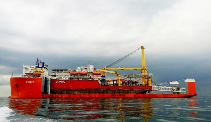 Sea Trucks Group's DP3 vessel Jascon 34 on her way to Magallanes field for PIAM project in Argentina