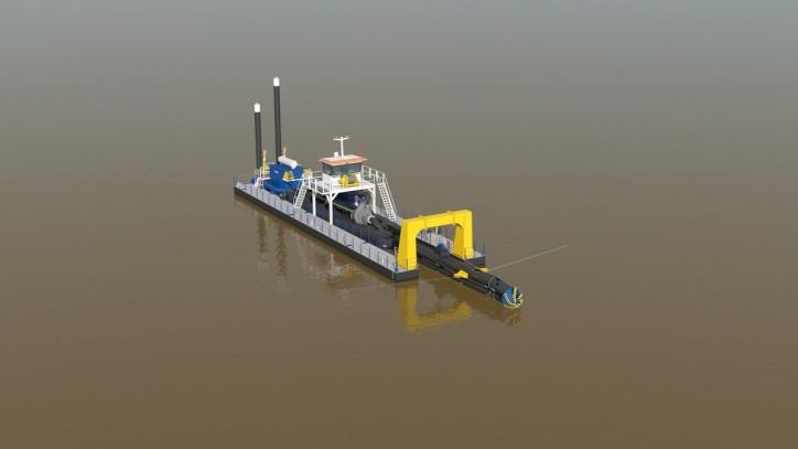 Damen unveils innovative deep cutter suction dredger's