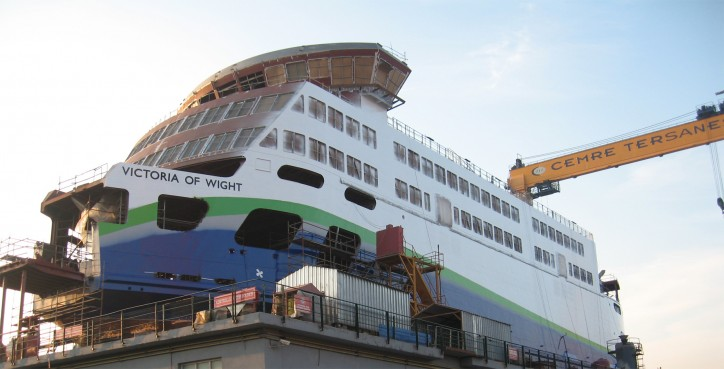Victoria of Wight - Wightlink's new hybrid energy ferry will be launched at the Cemre shipyard on February 07