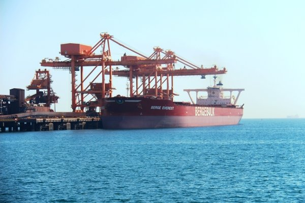 One-hundredth very large ore carrier berths in Sohar