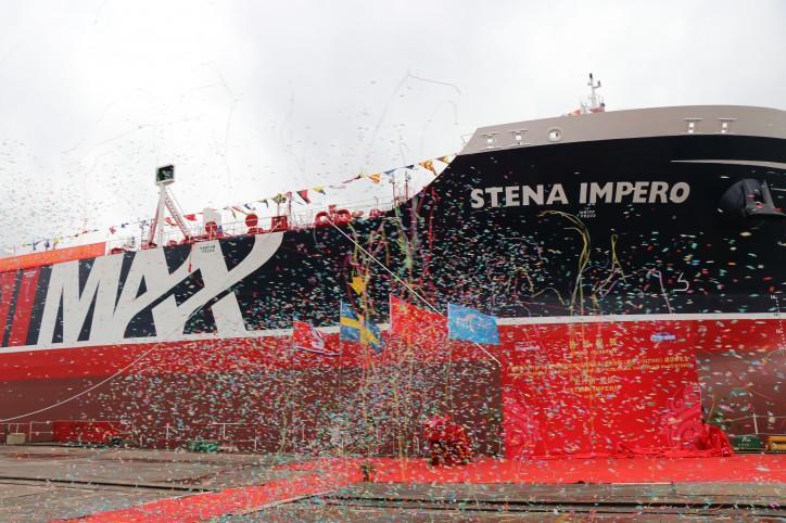 Stena Bulk's tanker Stena Impero named in Guangzhou