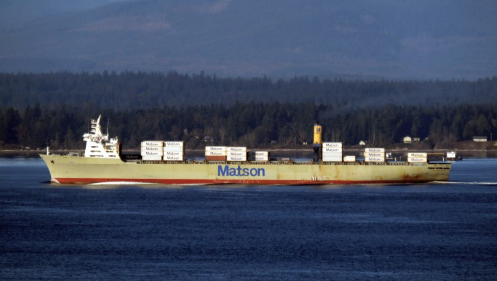 Container ship MANOA lost containers off San Francisco