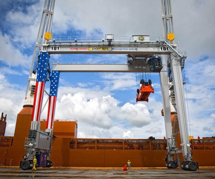 Fleet of Konecranes container handling equipment to Port of Wilmington, USA