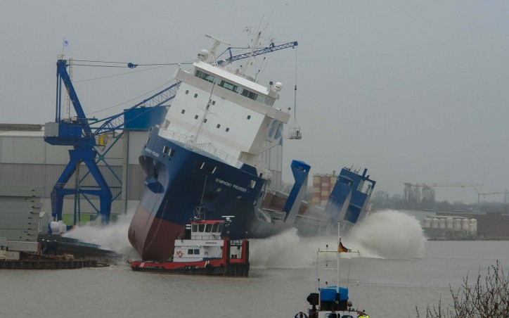 Symphony Provider launched at Ferus Smit Shipyard in Leer, Germany (Video)