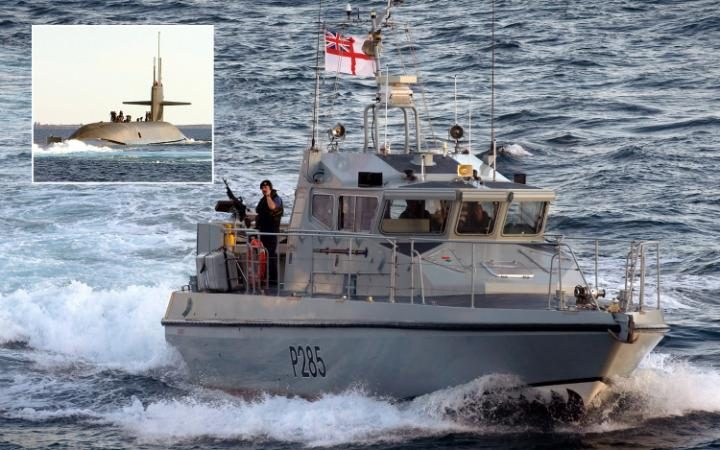 Royal Navy Boat Warns Off Spanish Vessel with Flares