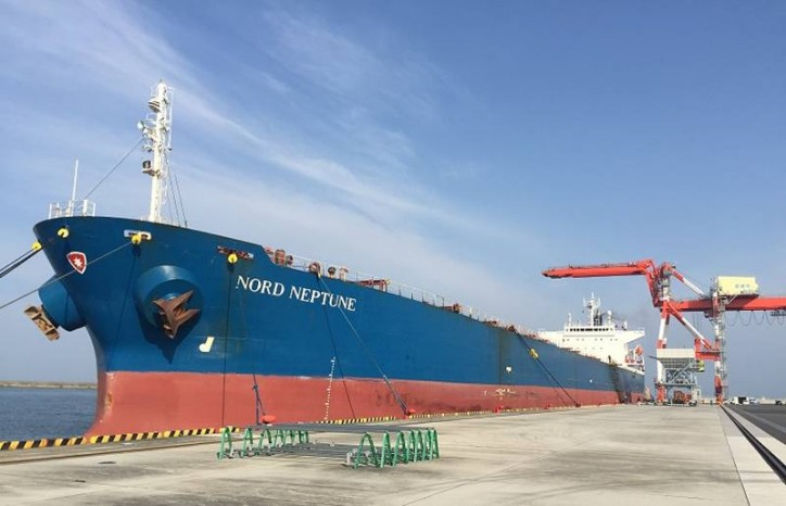 Japan's Port of Matsuyama welcomes first Panamax coal carrier
