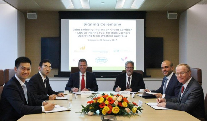 MOL Teams up with BHP Billiton/DNV GL/Rio Tinto/SDARI/Woodside on Joint Study of LNG-fueled Capesize Bulker