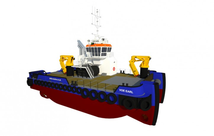 50-tonne Multi Cat 2613 delivered by Damen for tidal energy project work
