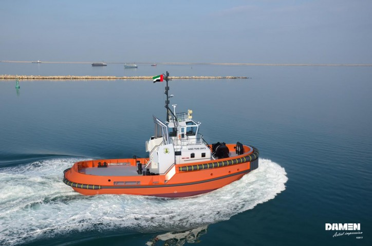 Saqr Port UAE signs contract for Damen ASD 2913 Tug