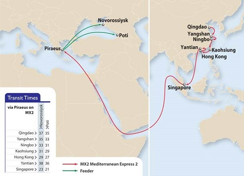 APL's Mediterranean Express 2 (MX2) service