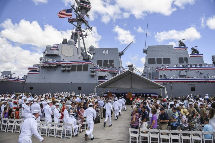 US Navy commissions destroyer USS John Finn