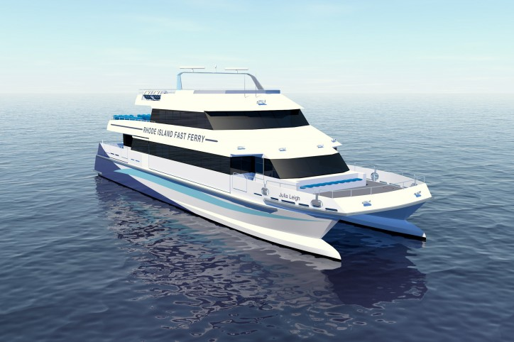 Second Incat Crowther Fast Catamaran for Rhode Island Fast Ferry