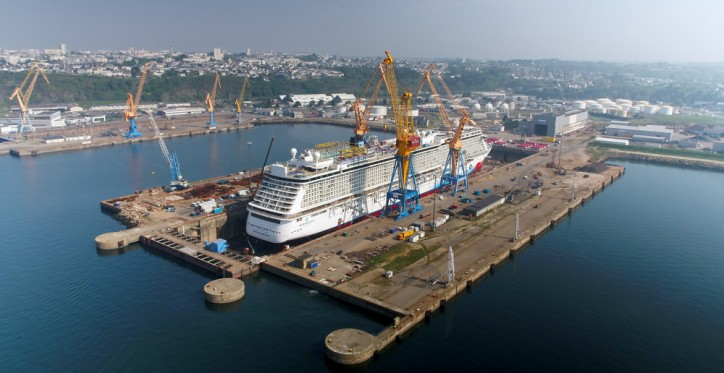 Damen Shiprepair Brest completes maintenance programme on cruise ship 'Norwegian Breakaway'