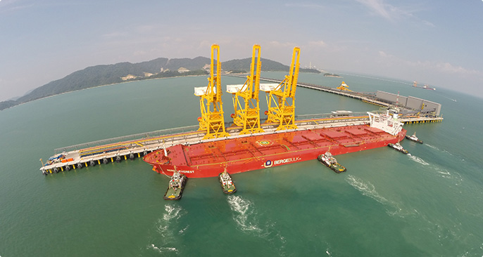 Berge Everest - The first Valemax to unload in Malaysia.