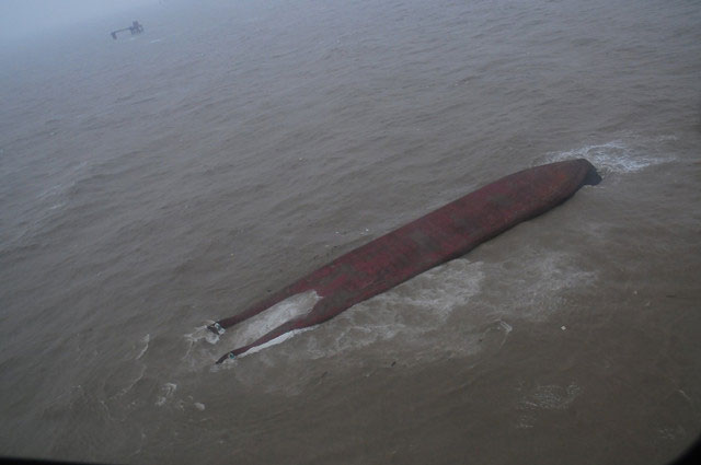 Chinese freighter capsized in Bohai sea, 5 missing