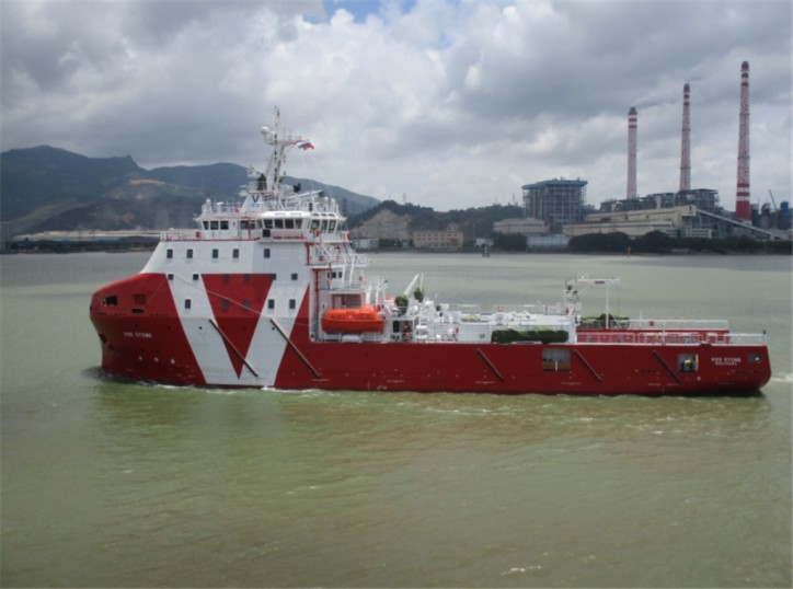 Vroon's subsea-support walk-to-work vessel VOS Stone chartered to E.ON