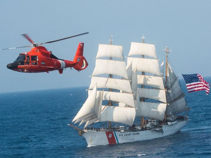 US Coast Guard tall ship Eagle stops in Portsmouth