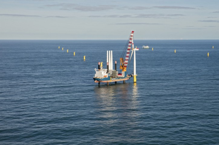 Van Oord installs the first wind turbine at Gemini Offshore Wind Park