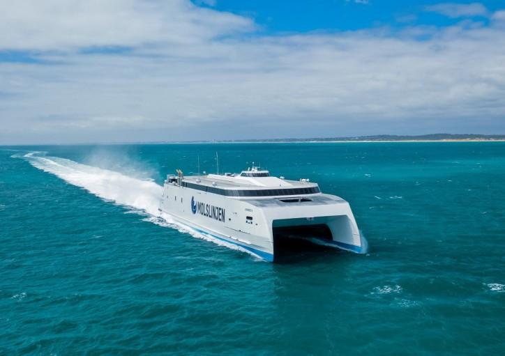 Austal delivers A$109 million ferry for Molslinjen of Denmark