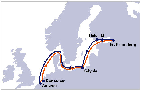 hapag-Lloyd new North-Sea Baltic service (NBS)