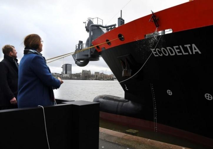 Hopper Dredger Ecodelta Christened in Rotterdam