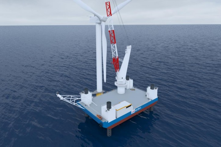 GustoMSC unveils jack-up vessel design intended for the Jones Act market in the US- the SEA-3250-LT installation jack-up