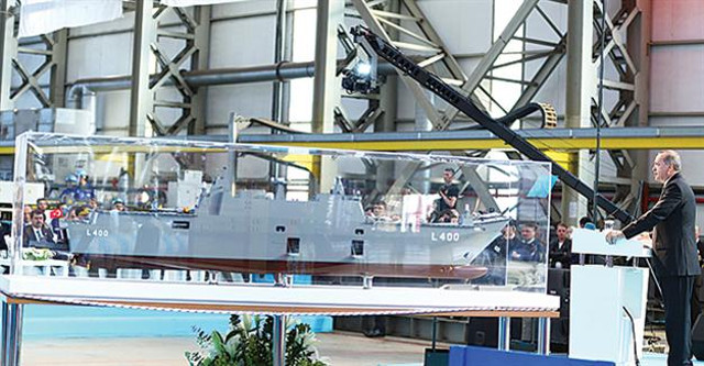 Turkey begins making its debut amphibious assault ship