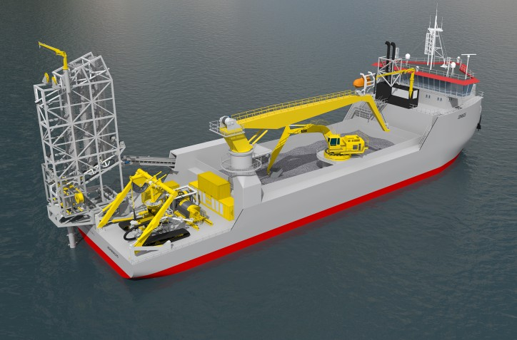 Ulstein awarded pre-commissioning contract for two subsea rock dumping vessels