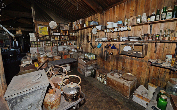 The kitchen inside Captain Robert Falcon Scott's hut, Cape Evans