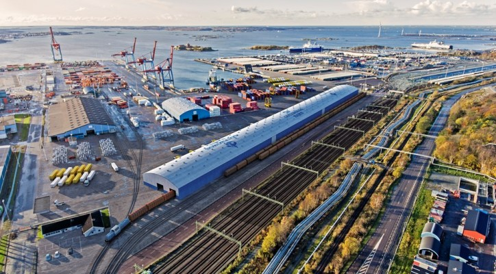 Construction of new crossdocking terminal under way at the Port of Gothenburg