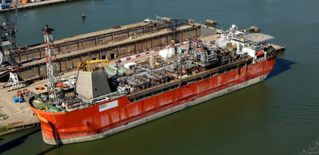 First Ship-Shaped FPSO Loaded to the Largest Semi-Submersible Heavy Transport Vessel in the world