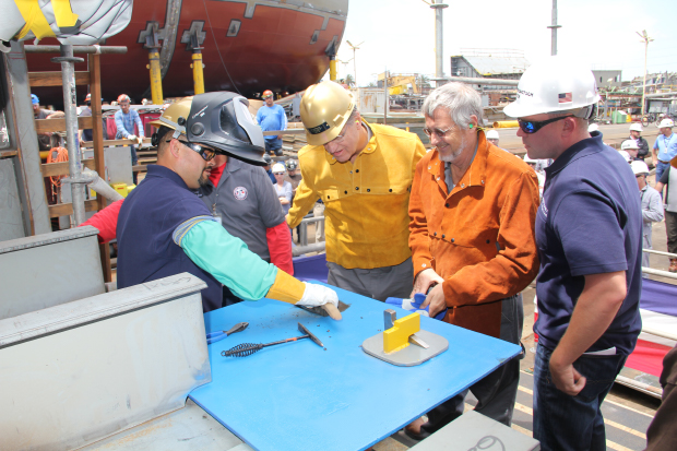 General Dynamics NASSCO Hosts Keel Laying Ceremony for Jones Act Tanker Liberty