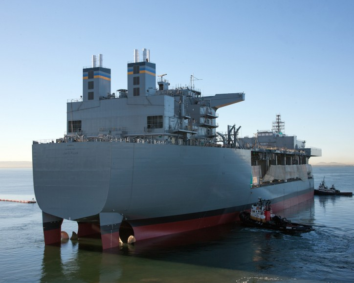 USNS Lewis B. Puller, Navy's pier at sea, delivered
