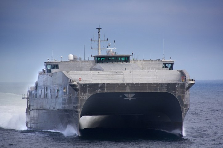 U.S. Navy's New Fast Transport Ships Can't Stand Buffeting From High Seas