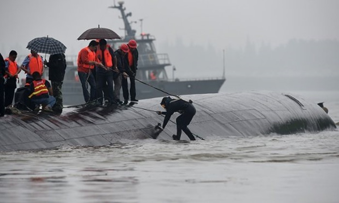 Cargo ship Zhong Heng 9 sank after collision on Yangtze river