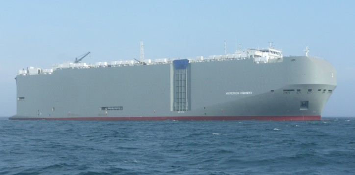 K Line car carrier HYPERION HIGHWAY makes her maiden call to the Port of Hambantota