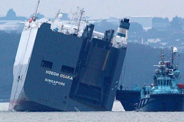 Righting Hoegh Osaka