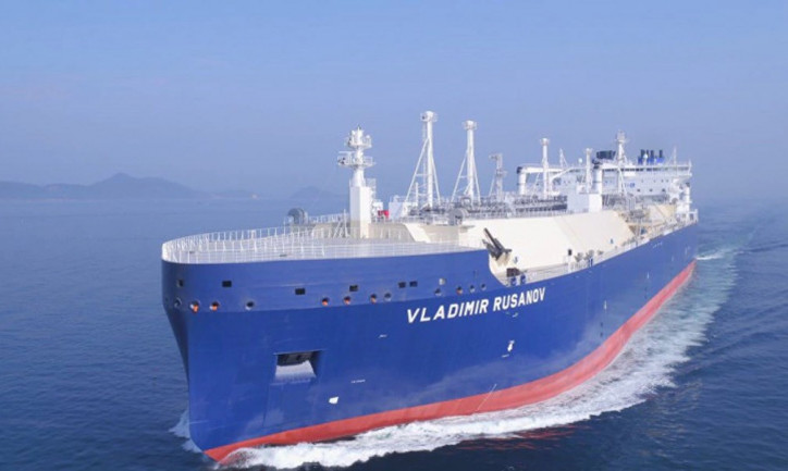 LNG Carrier Vladimir Rusanov Opens the Northern Sea Route 2019 Navigation Period